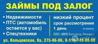Займ под залог авто в Рязани, ПТС, СТС и паспорт