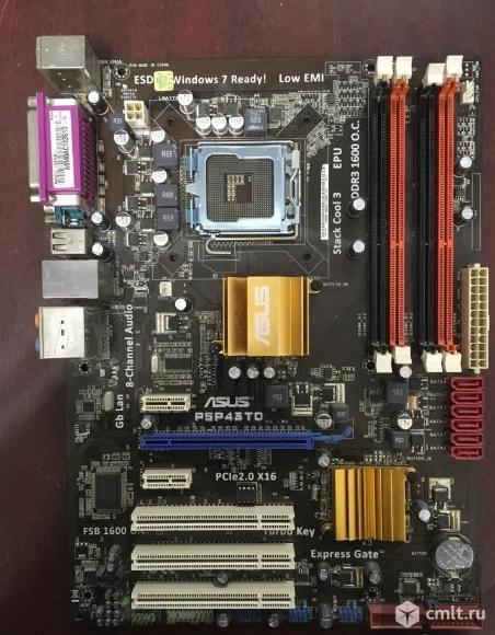 775 плата asus P5P43TD DDR3 до 16GB