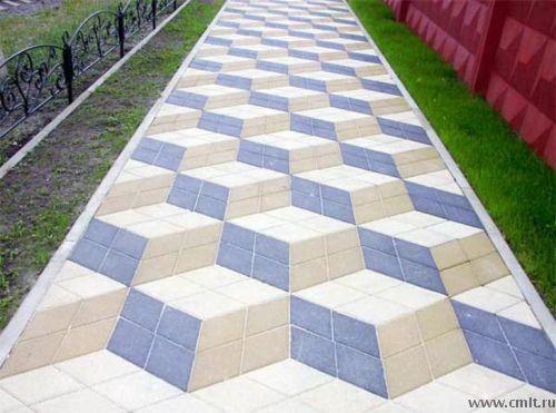 Укладка тротуара из камня