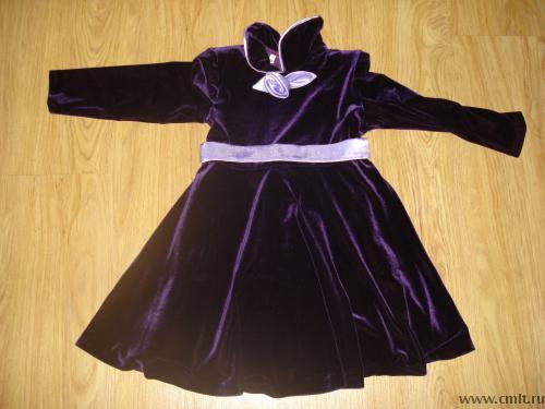 Платье Для Девочки Бархатное 71
